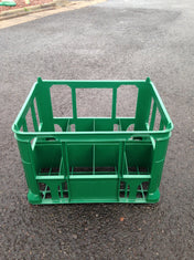 Stackable Green Milk Crate to Hold 8 x 2ltr Milk Bottles or Cartons