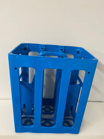 tall stackable carry crate to hold 6 bottles