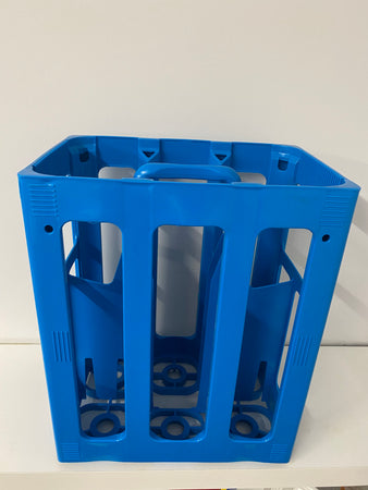 tall plastic carry crate to hold 6 bottles