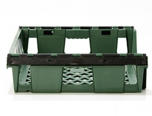 Stackable 12 Loaf Bread Tray (Green) Back View