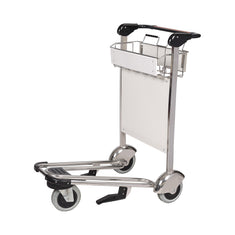 Trafficker Stainless Steel Airport Luggage Trolley with 3 Wheels