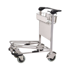 Explorer Stainless Steel Airport Luggage Trolley with 4 Wheels