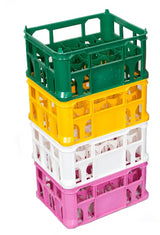 "Strong Lightweight 8.5"" Crates (pack of 20) Available in Different Colours (including Black, White, Green, Red, Blue, Orange, Pink, Yellow)"