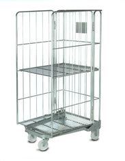 Roll Container Stock Cage with 3 Sides