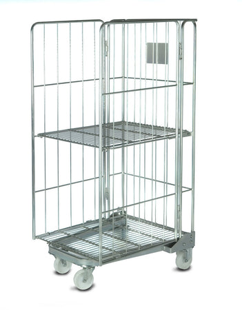 Roll Cage Container with 3 Sides
