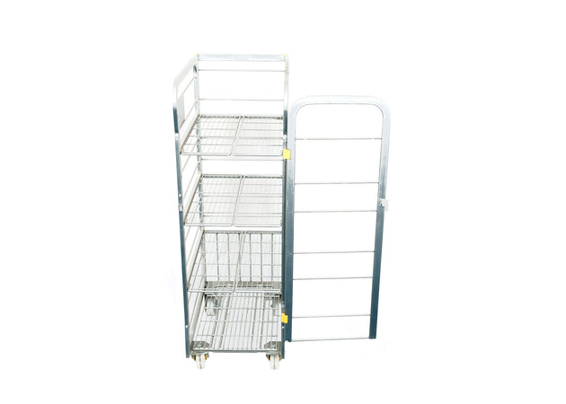Milk Trolley (4 Tier: 80 x 2 Litres) Side