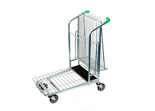 Fully Folded Wired Basket Garden Centre Trolley