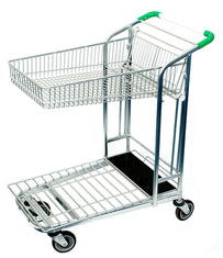 Wired Folding Basket Garden Centre Trolley