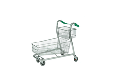 Wheelbarrow Shopping Trolley with Additional Basket Attached