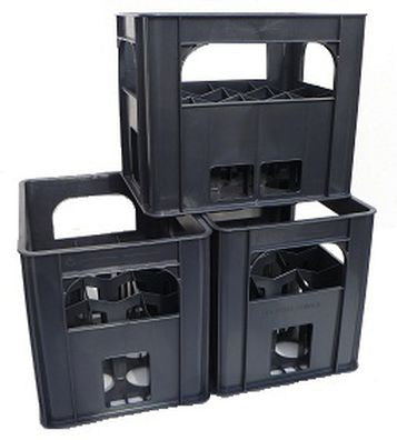 Standard 12 Inch Wine Bottle Crate Stacked