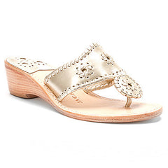Jack Rogers Hamptons Mid Wedge Platinum