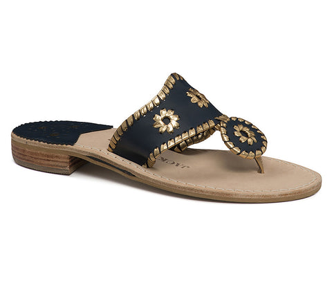 Jack Rogers Nantucket Midnight/Gold