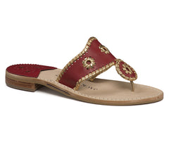Jack Rogers Nantucket Flag Red/Gold