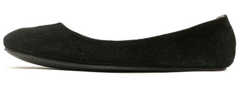 French Sole Sloop Black Suede Flats