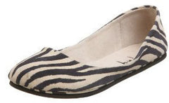 French Sole Sloop Zebra Suede Flats