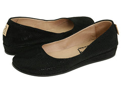 French Sole Zeppa Black Wave