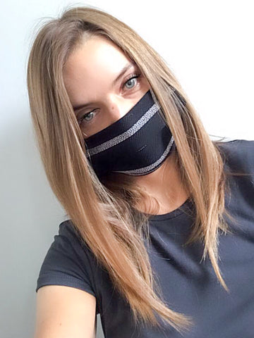 Black Stripe Face Mask