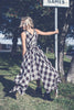 Black and Beige Tartan Wendy Dress