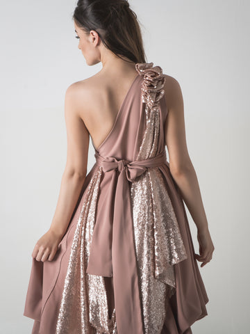 Rose Gold Sparkle Dolly Dress