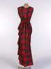 Red and Black Tartan Willow Dress