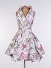 Cream Elsie Floral Trench Dress