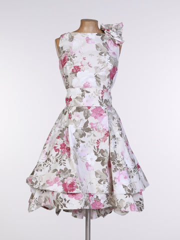 Cream Elsie Floral Mia Dress