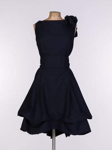Navy Cotton Mia Dress
