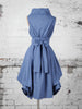 Denim Blue Trench Dress