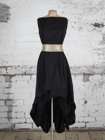 Black and Gold Sequin Wendy Dress