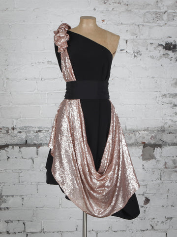 Black and Gold Sparkle Dolly Dress