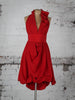 Bright Red Emma Ruffle Dress