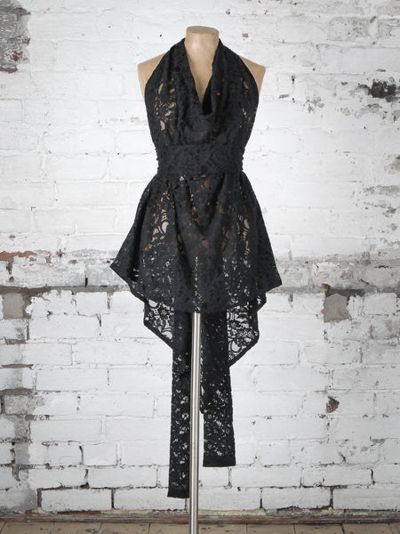 Black Lace Alice Maxi Top