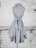 Silver Grey Trench Dress