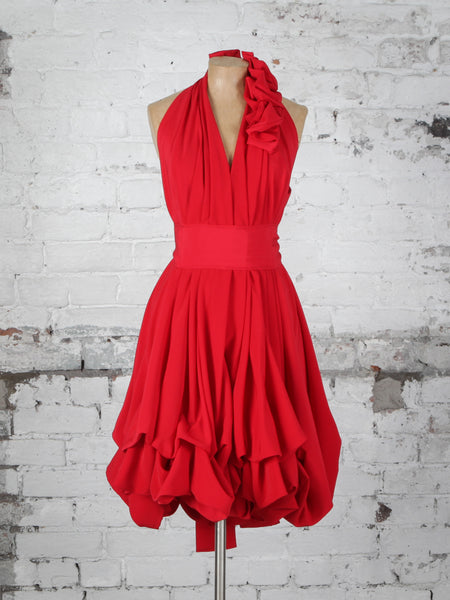 Bright Red Evie Dress