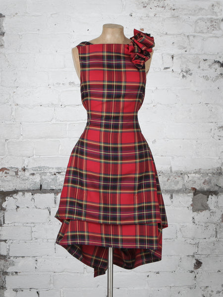 Red and Black Tartan Anna Dress