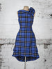 Royal Blue Tartan Anna Dress