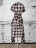 Black and Beige Tartan Heather Dress