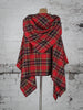 Red and Black Tartan Wolf Cape