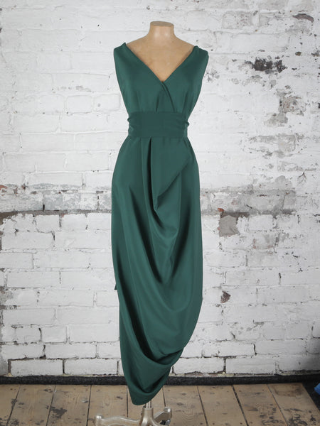 Bottle Green Poppy Dress