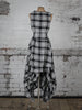 Black and White Tartan Wendy Dress