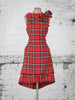 Bright Red and Yellow Tartan Anna Dress