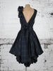 Navy and Green Tartan Mia Dress