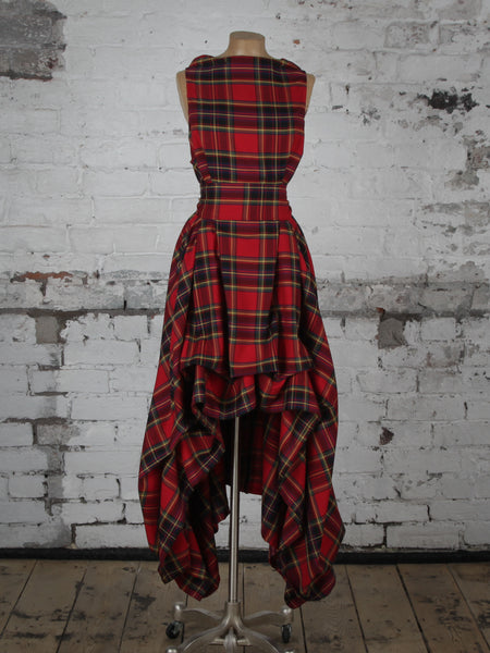 Red and Black Tartan Wendy Dress