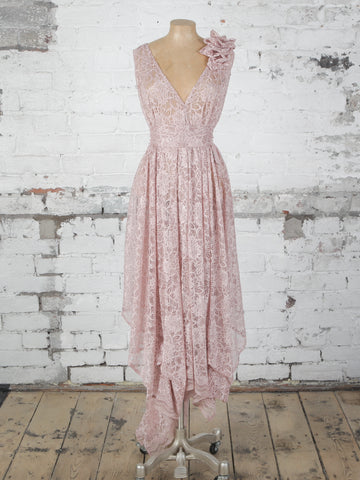 Pink Lace Valentina Dress