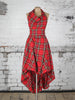 Bright Red and Yellow Tartan Alice Dress