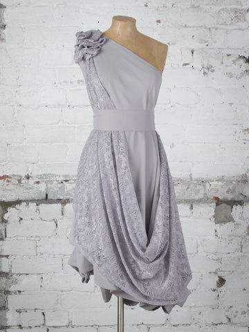 Silver Lace Dolly Dress