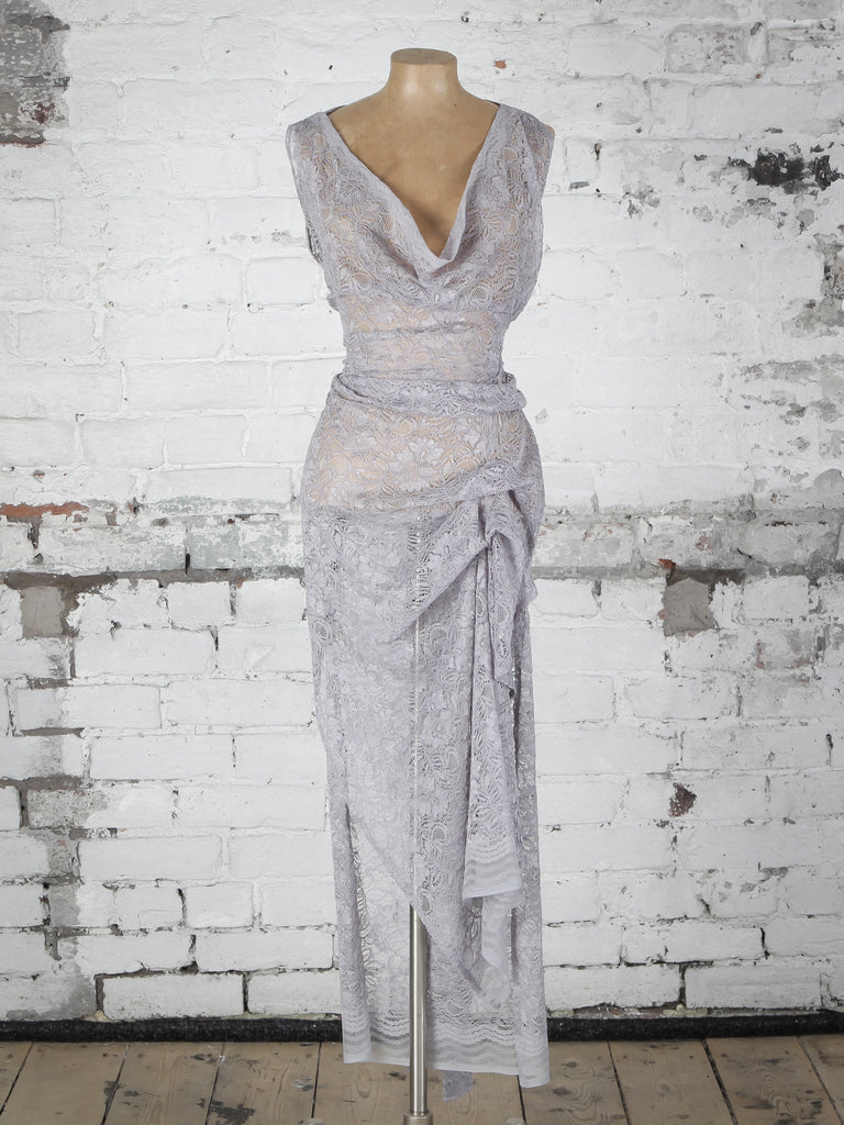 Grey Lace Willow Dress | Blonde And Wise