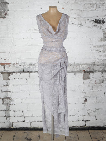 Grey Lace Willow Dress
