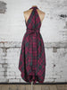 Maroon Green Tartan Alice Dress