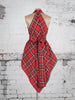 Bright Red and Yellow Tartan Alice Maxi Top